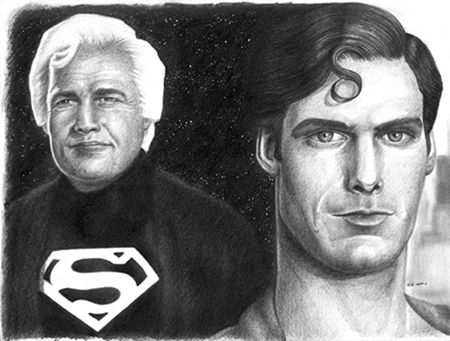 Superman & Father - Click to Return to Gallery